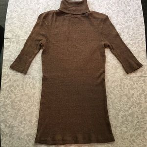 Michael Stars bronze shimmer turtleneck
